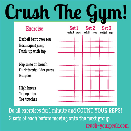 graphic about Printable Gym Workout known as fitness center exercise Archives - Attain Your Height