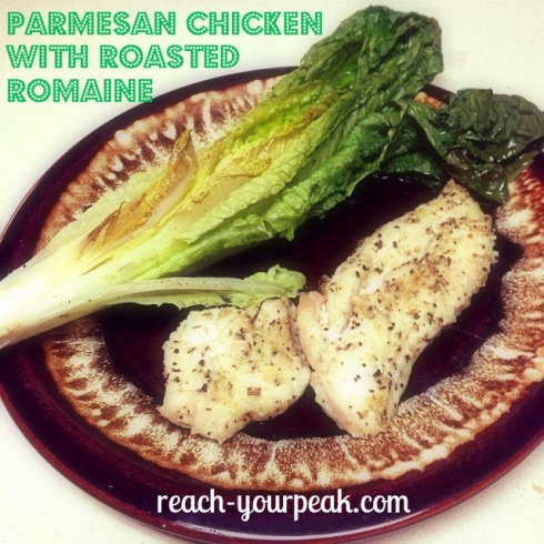 parmesan chicken with roasted romaine