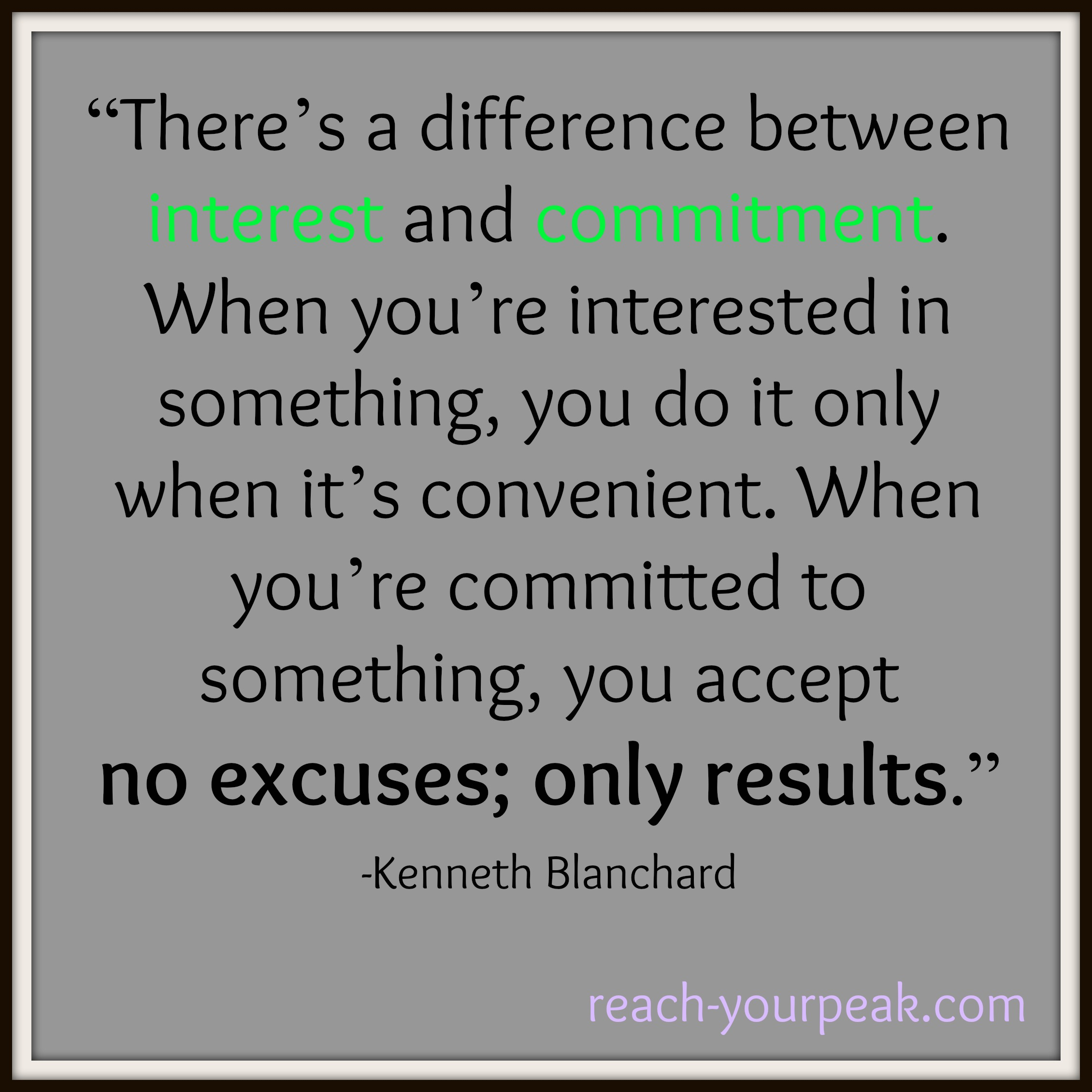difference between interest and commitment