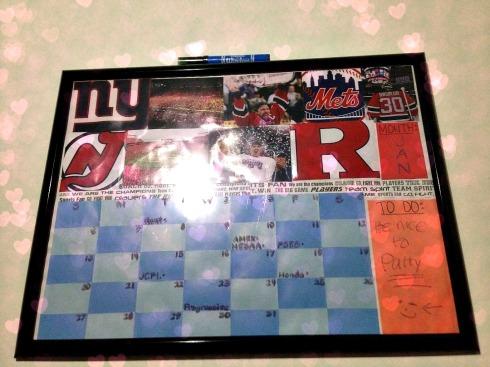 picture frame calendar