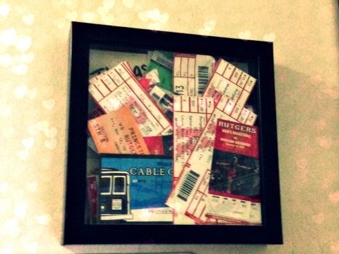 ticket stub holder
