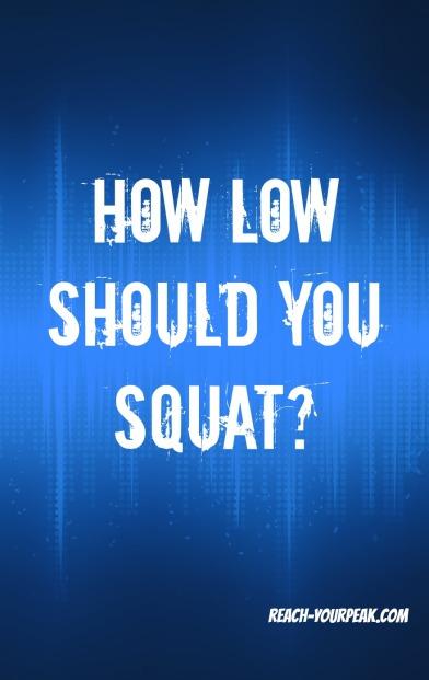 how low should you squat